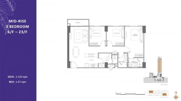 3BR Mid Rise