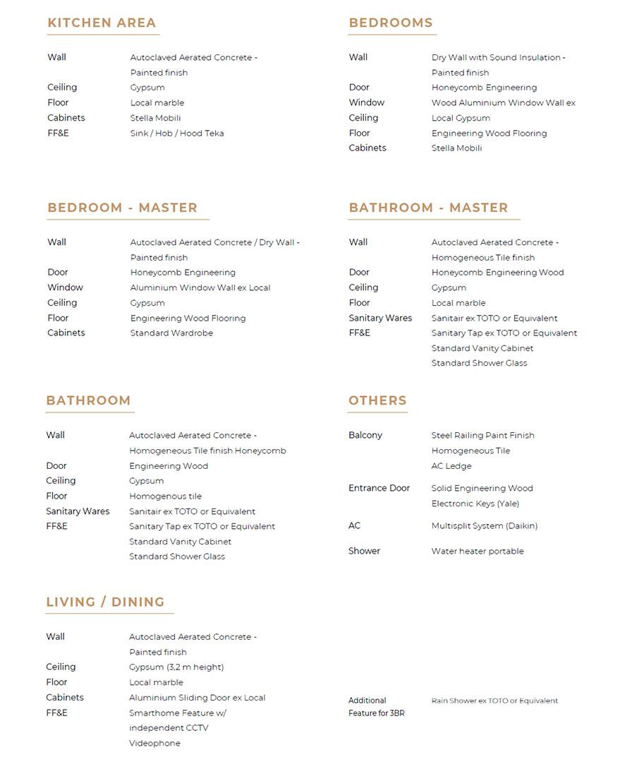 Arumaya Specifications