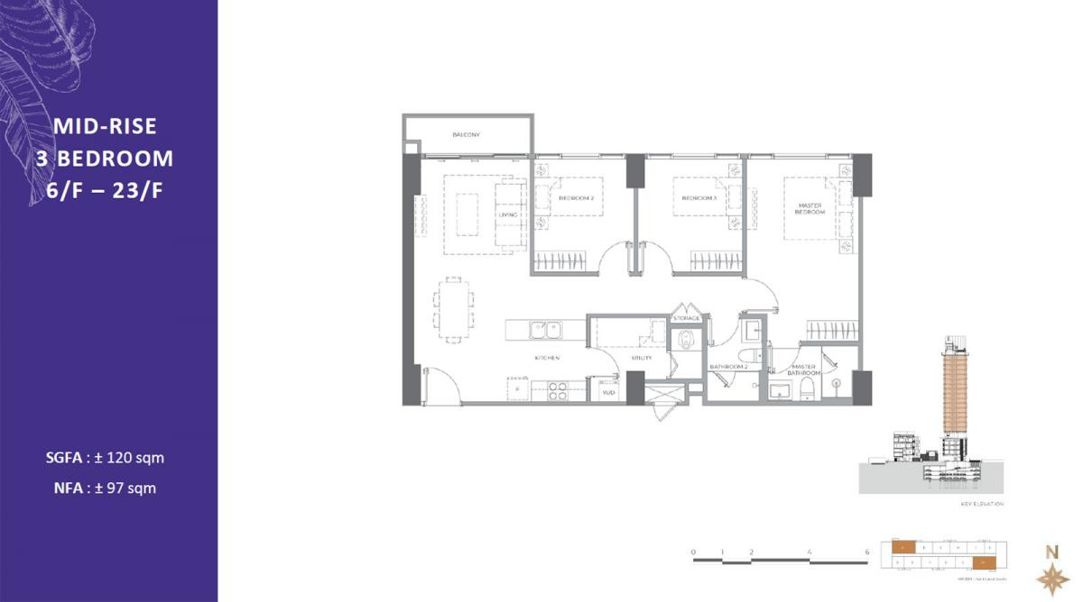 3BR - Mid Rise